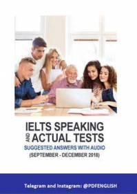 دانلود IELTS Speaking Actual Tests سپتامبر تا دسامبر 2018