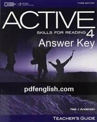 پاسخ کتاب چهارم Active Skills for Reading