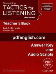 پاسخ ویرایش سوم کتاب Developing Tactics for Listening