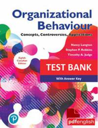 بانک سوالات Organizational Behavior: Concepts, Controversies, Applications