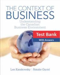 بانک سوالات The Context of Business