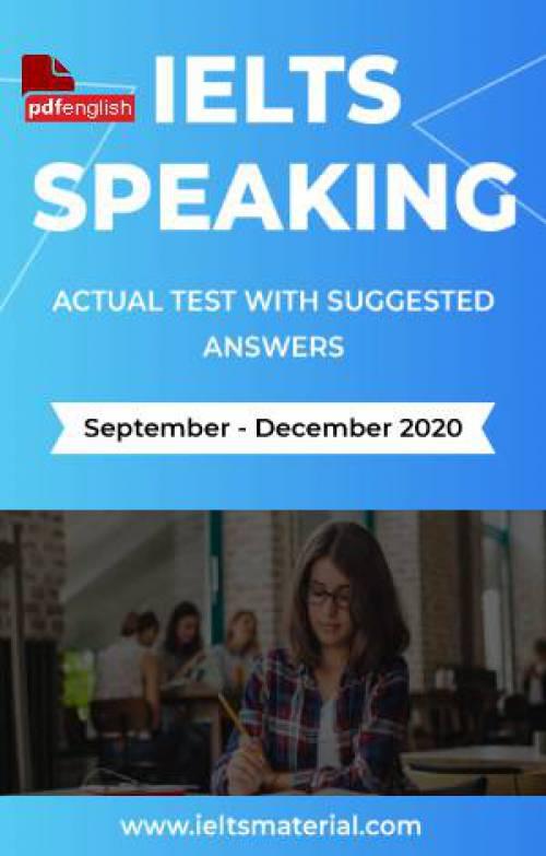 کتاب IELTS Speaking Actual Tests سپتامبر تا دسامبر 2020